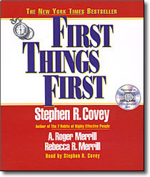 First Things First abridged CD